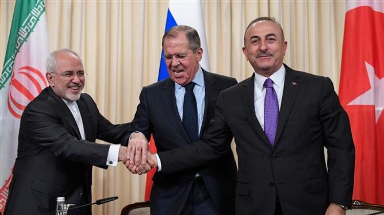Meeting of Turkish, Russian, and Iranian FMs held via video-conferencing - <span class=