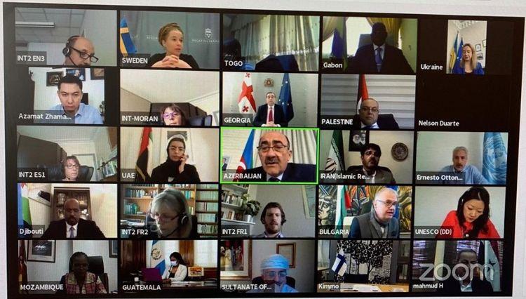 UNESCO-ya üzv dövlətlərin Mədəniyyət nazirlərinin virtual görüşü keçirilib