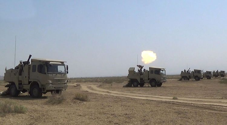 Azerbaijani MoD: Mortar batteries perform combat firing - <span class=