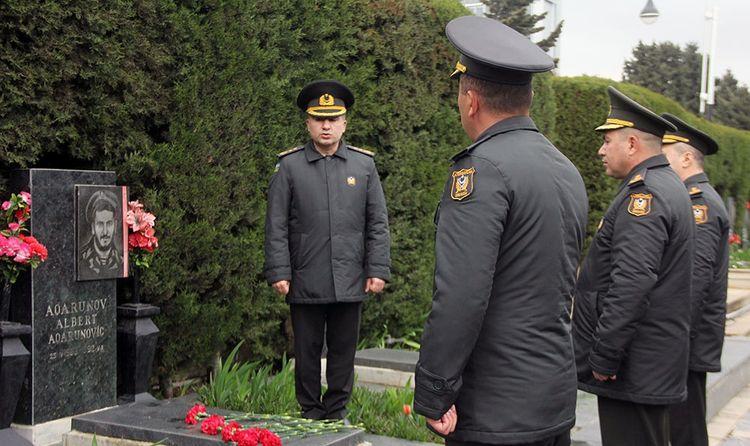 Azerbaijani MoD: Azerbaijan National Hero Albert Agarunov's memory honored