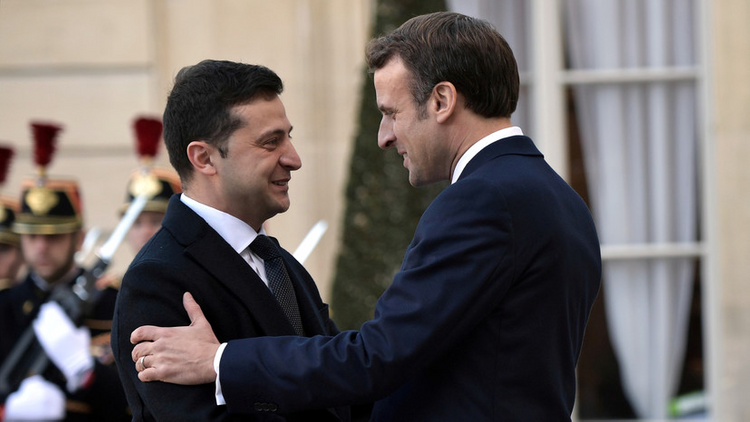 Volodymyr Zelenskyy have phone conversation with President of French Republic