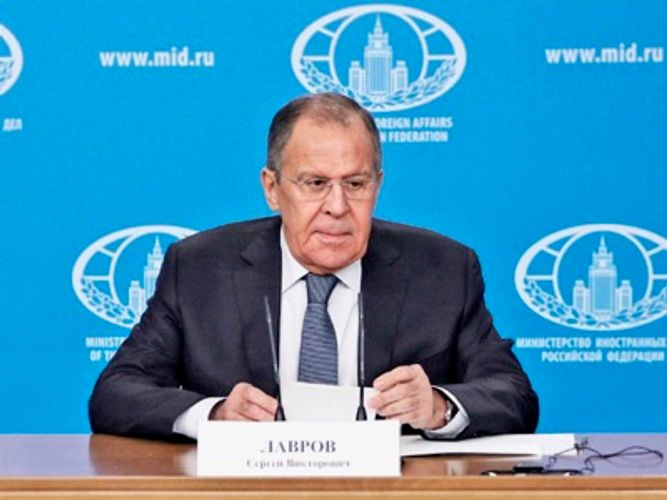 Russian FM Sergei Lavrov holds presser after BRICS ministerial meeting - <span class=
