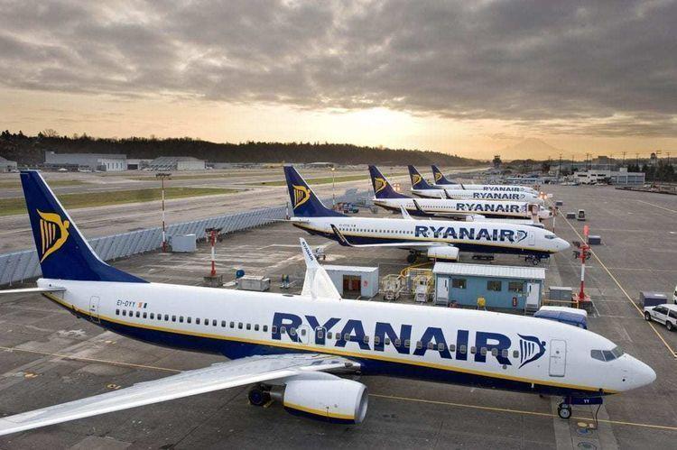Ryanair traffic fell 70% to 4.4 million in July