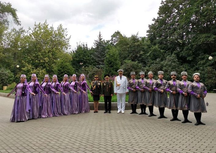 """Azerbaijani servicemen are participating in the """"Friendship Without Borders"""" festival in Moscow"""