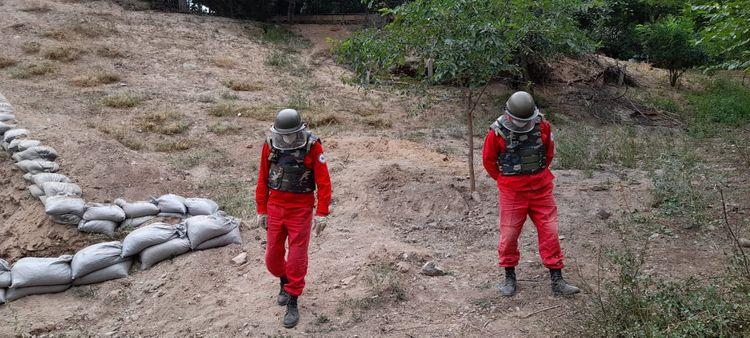Tovuzun Ağdam kəndində həyətyanı sahədə top mərmisinin hissəsi aşkarlanıb - <span class='red_color'>FOTO</span>
