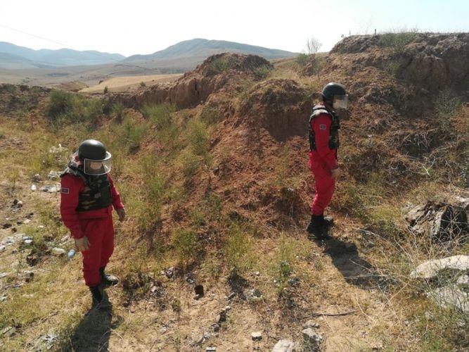 Qazax rayonunda təhlükəli sursat aşkarlanıb - <span class='red_color'>FOTO</span>