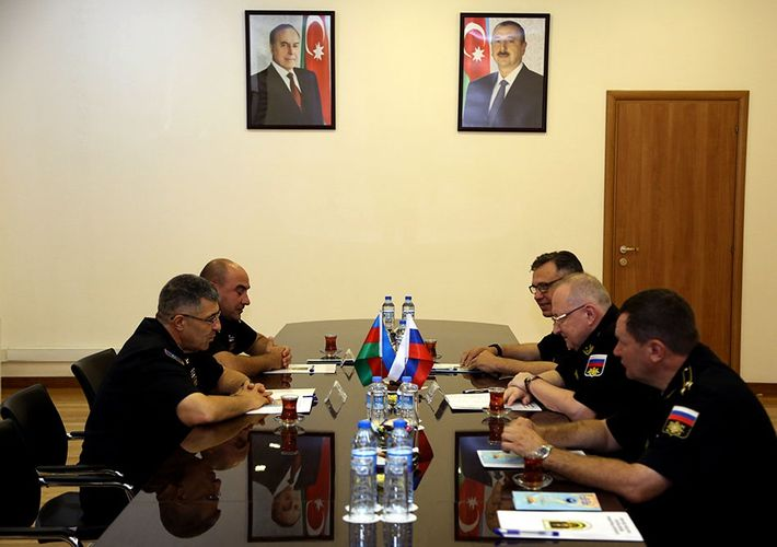 Azerbaijan Naval Forces headquarters hosted the meeting with the Russian delegation