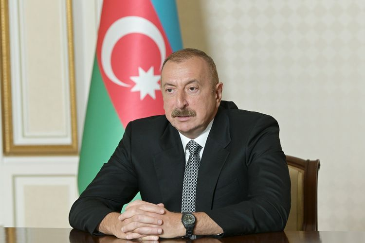 President Ilham Aliyev inaugurates in a video format another modular hospital for treatment of coronavirus patients