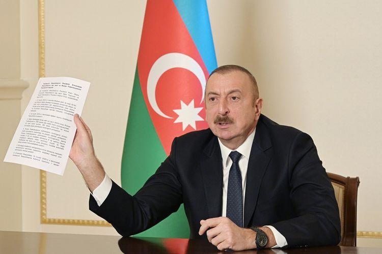 Президент Азербайджана обнародовал уничтоженную и взятую в качестве трофея вражескую технику