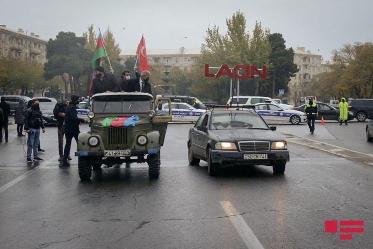 В Баку состоялся автопробег по случаю освобождения Лачина - ФОТО