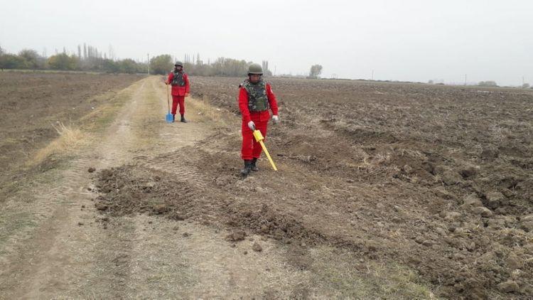 Suqovuşana çəkiləcək avtomobil yolunun minalardan təmizlənilməsi əməliyyatı başa çatıb - FOTO