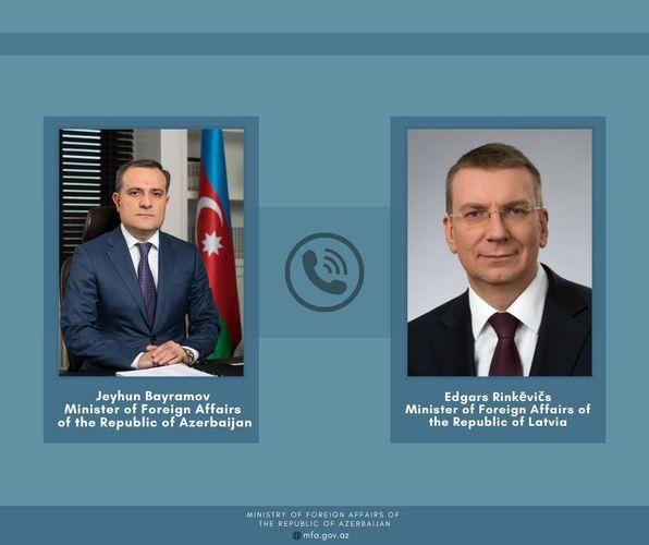 Azerbaijani and Latvian FMs hold telephone conversation
