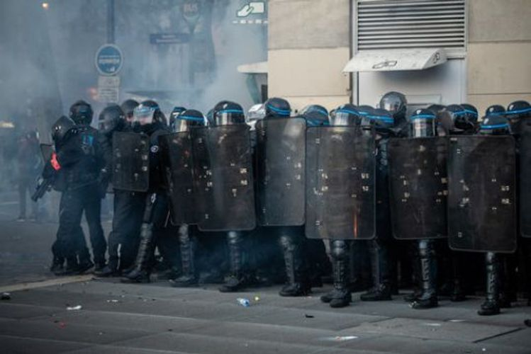 Tear gas fired as thousands protest in Paris against security bill - VIDEO