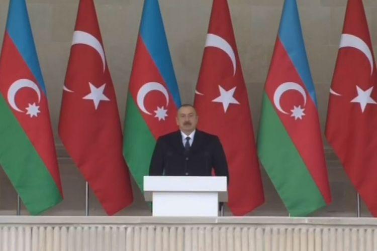 Президент Ильхам Алиев: За 44 дня Азербайджан одержал блестящую победу над Арменией