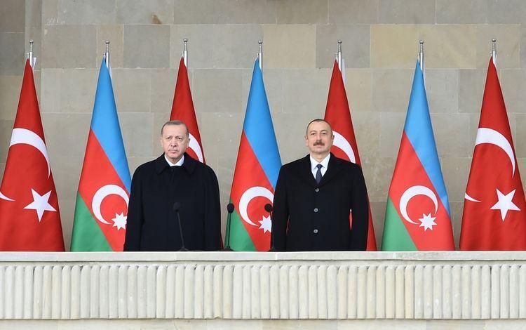 Президент Ильхам Алиев: Турецкие и азербайджанские компании будут вместе участвовать в дорожных, железнодорожных, инфраструктурных проектах в Карабахе
