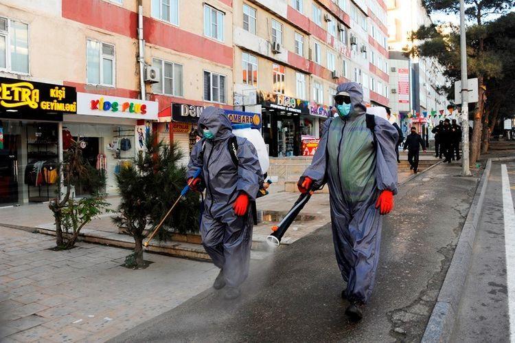 На улицах столицы в очередной раз проведены усиленные дезинфекционные работы