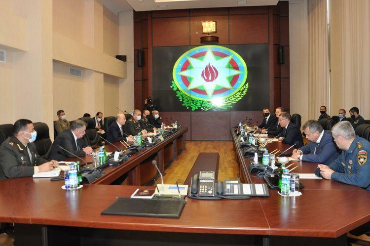 Министр Кямаледдин Гейдаров встретился с делегацией во главе с главой МЧС России Евгением Зиничевым - ФОТО - ВИДЕО