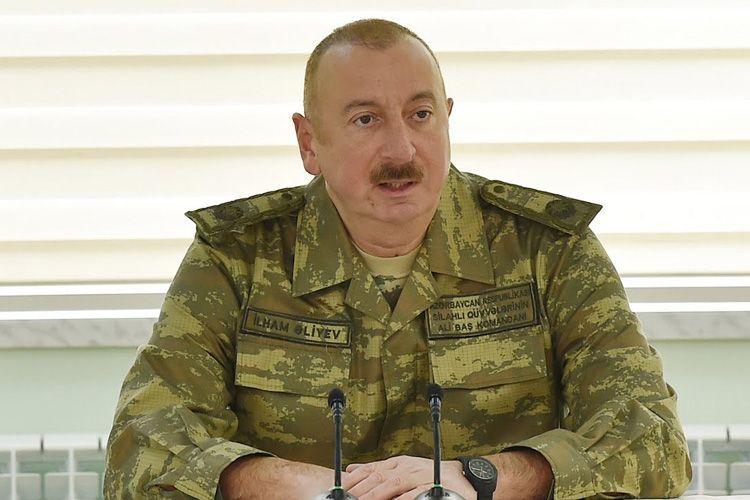 Ильхам Алиев: Пришли, захватили чужую землю, а затем стали утверждать, что это древняя армянская земля - ВИДЕО