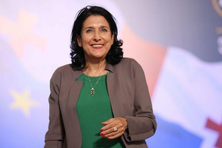 Саломе Зурабишвили поздравила президента Азербайджана