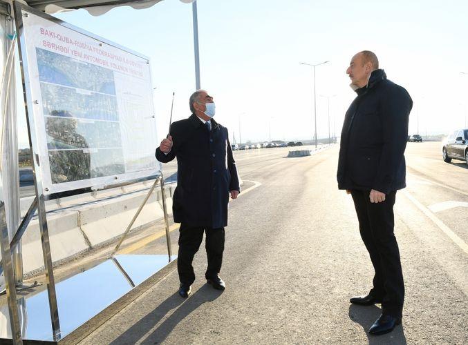 Сдан в эксплуатацию 30-километровый участок дороги Баку-Губа-государственная граница с РФ