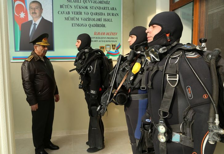 Azerbaijan Defense Minister attends the opening of modern Diver Training Facility of Naval Forces - <span class='red_color'>VIDEO</span>