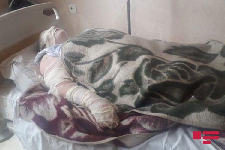 От взрыва газового баллона в Гяндже пострадали женщины - <span class='red_color'>ФОТО</span>