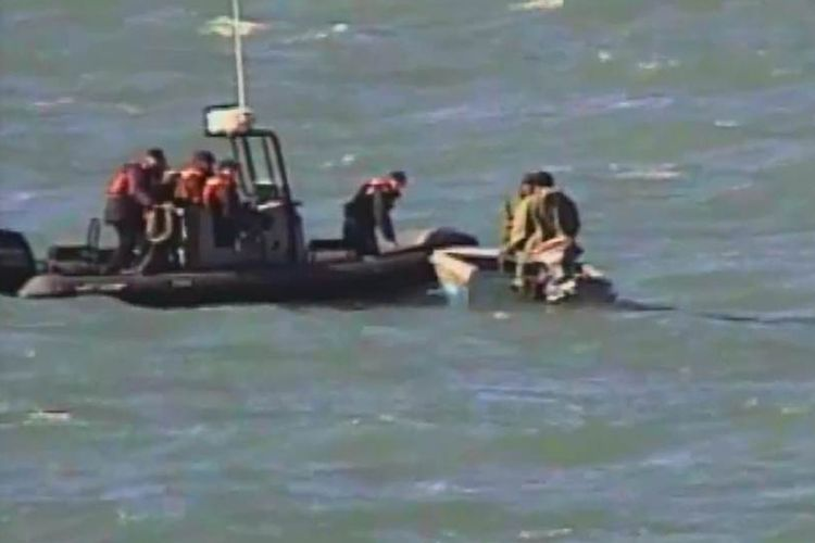 Border guards rescue two fishermen exposed to drowning danger in Caspian Sea