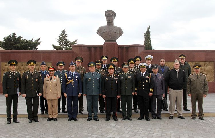 Military attachés of foreign countries in Azerbaijan visited the Military Lyceum named after Jamshid Nakhchivanski
