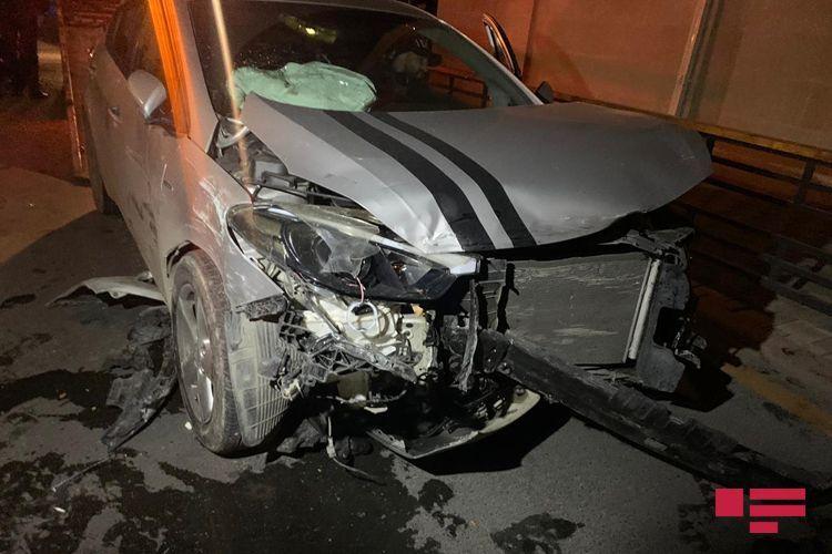 В Баку столкнулись два KİA, есть пострадавший - <span class=