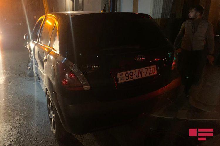 В Баку столкнулись два KİA, есть пострадавший - <span class='red_color'>ФОТО</span>