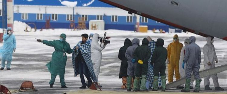 Condition of those evacuated from China to Russia's Tyumen stable