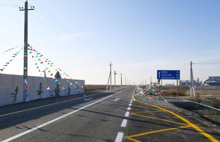 Prezident İlham Əliyev Kürdəmirdə avtomobil yolunun açılışında iştirak edib  - <span class='red_color'>YENİLƏNİB</span>