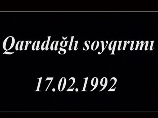 Прошло 28 лет со дня учиненной армянами резни в селе Гарадаглы Ходжавендского района Азербайджана