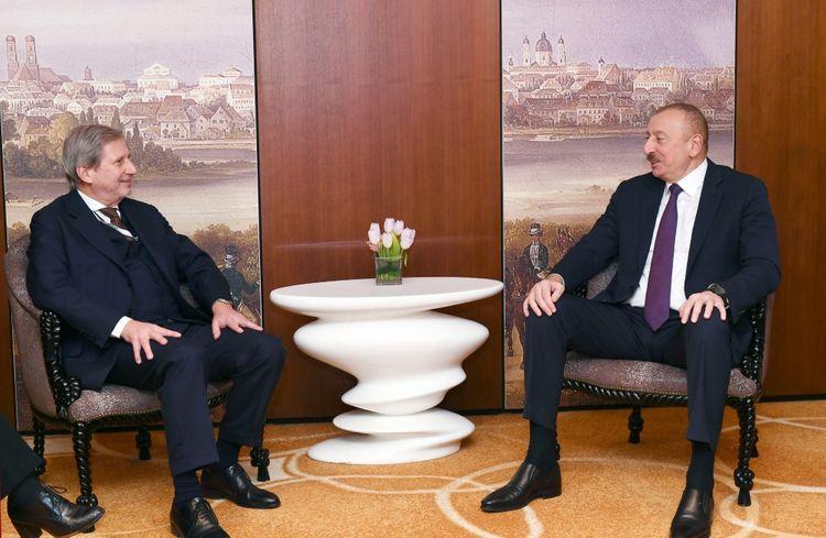President Ilham Aliyev met with European Union Commissioner in Munich - UPDATED