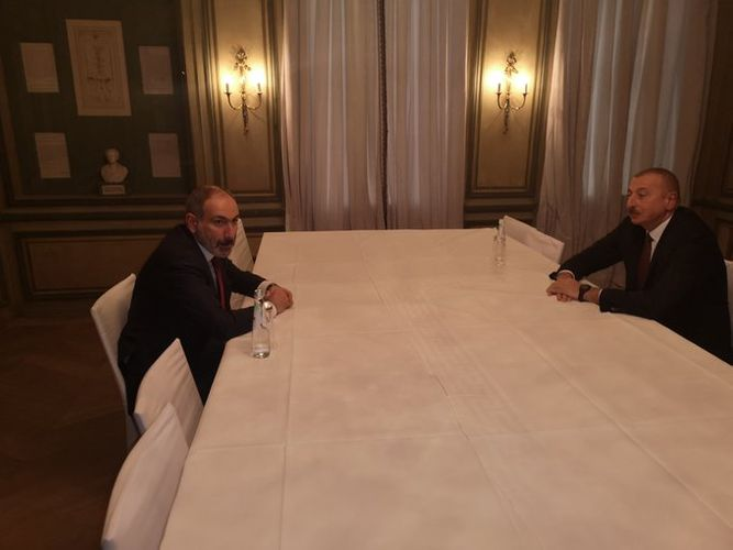 Meeting between Azerbaijani President and Armenian PM in MSC2020 started