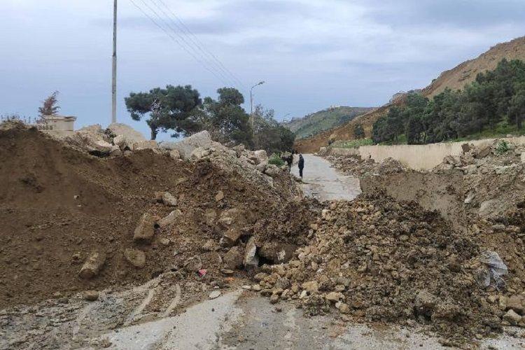 Landslide occurred in Badamdar, Baku