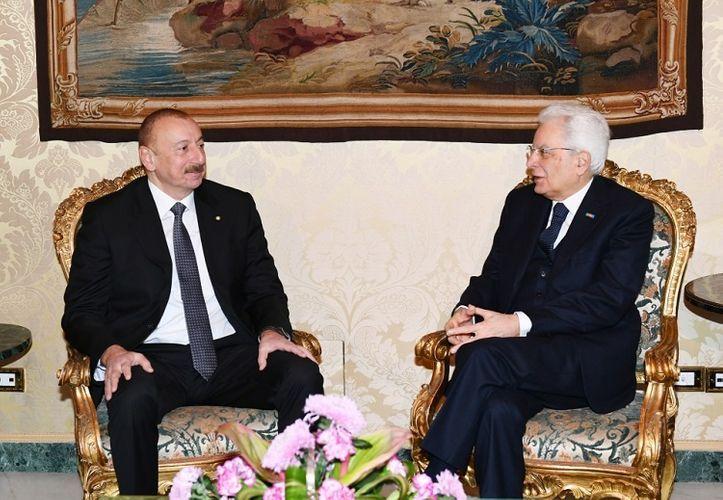 Состоялась встреча один на один президентов Азербайджана и Италии - ОБНОВЛЕНО
