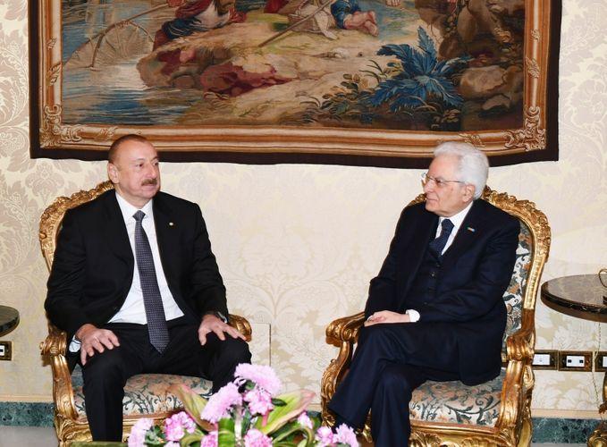 Azerbaijani, Italian presidents held one-on-one meeting - UPDATED