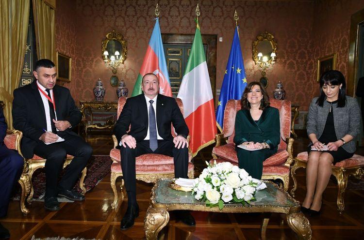 Azərbaycan Prezidenti İlham Əliyev İtaliya Senatının Sədri ilə görüşüb