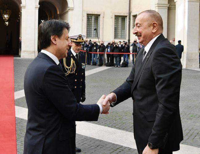 Президент Ильхам Алиев встретился с председателем Совета министров Италии  - ФОТО