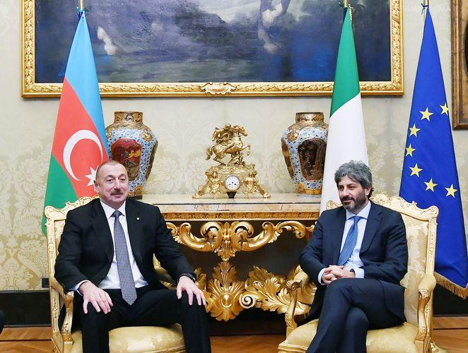 Prezident İlham Əliyev İtaliya Deputatlar Palatasının sədri ilə görüşüb - YENİLƏNİB