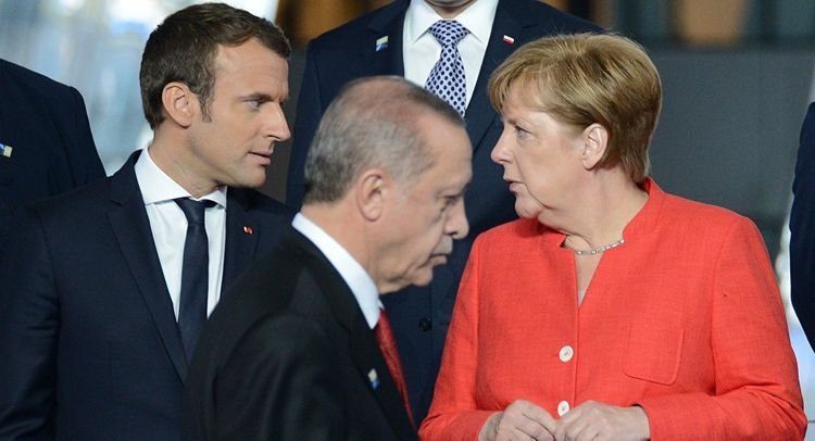 Ərdoğan, Makron və Merkel arasında telefon danışığı olub