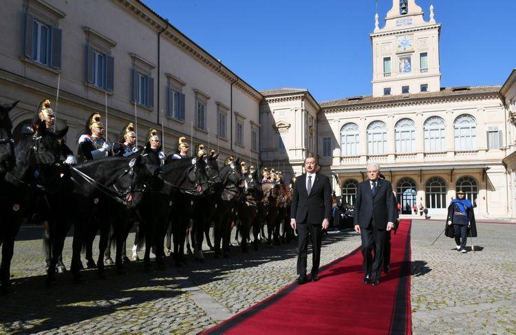 В Риме состоялась церемония официальных проводов президента Ильхама Алиева