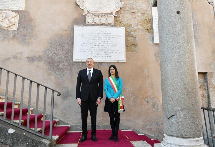 Президент Азербайджана встретился с мэром Рима - ФОТО - ОБНОВЛЕНО