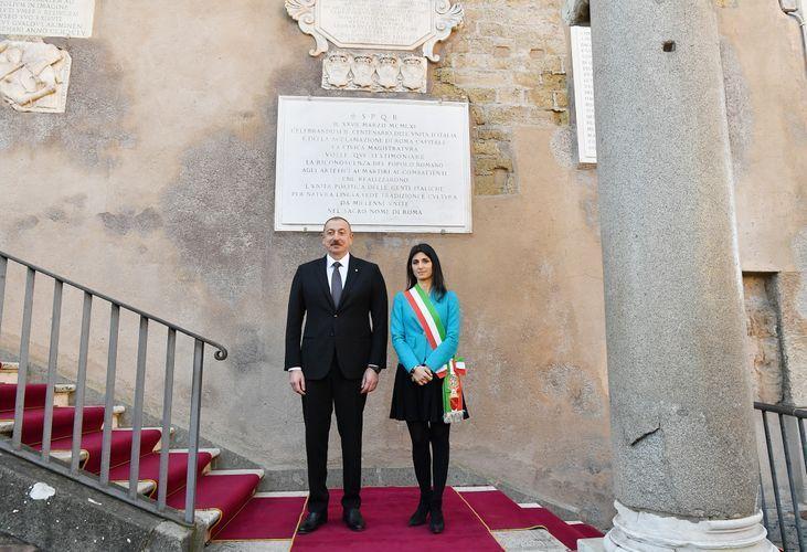 Azerbaijani President meets with Mayor of Rome  - PHOTO