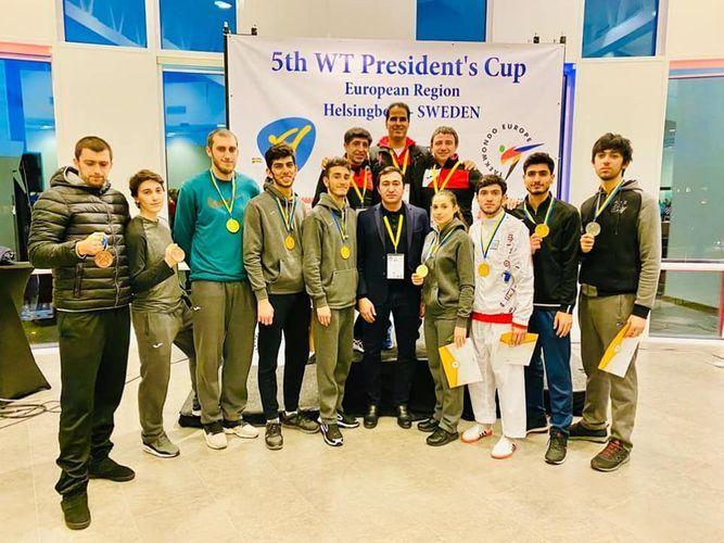 Азербайджанские таэквондисты завоевали 9 медалей в Швеции – ФОТО