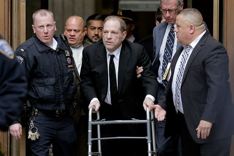"""Harvey Weinstein taken to hospital over """"chest pains"""" after guilty verdict"""