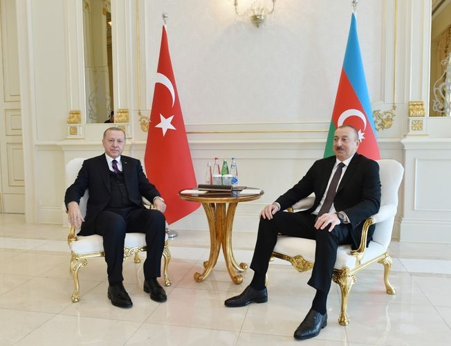 Azerbaijani, Turkish presidents made press statements