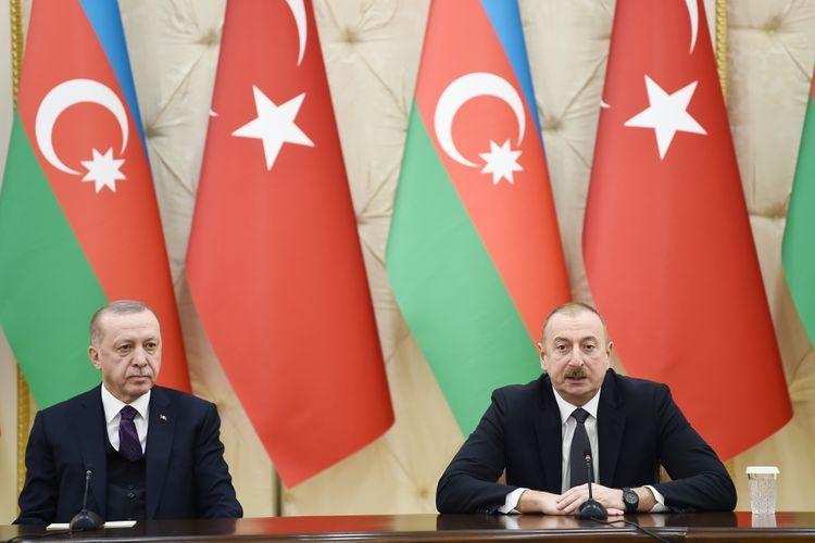 Президенты Азербайджана и Турции выступили с заявлениями для прессы - ОБНОВЛЕНО