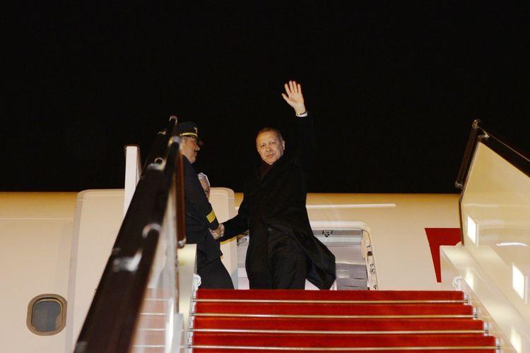 Завершился визит президента Турции в Азербайджан
